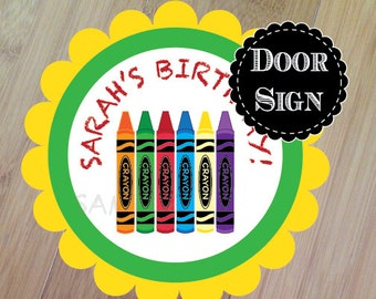 Crayon Part, Baby Shower or Birthday Party Decoration, Professionally Printed, Art party decoration