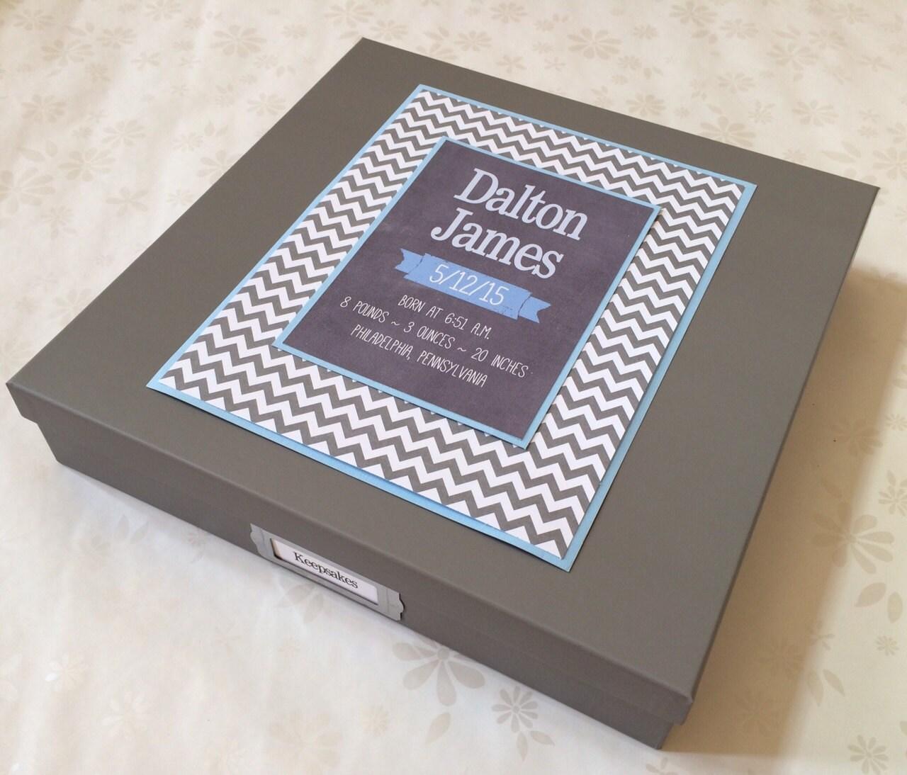 baby boy personalized keepsake memory box baby boy keepsake. Black Bedroom Furniture Sets. Home Design Ideas
