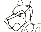 Great Dane Wire Sculpture, Dog Wire Sculpture, Folk Wire Art, Large Dog Sculpture, 237734326