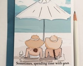 Miss You Card - Best Friends Card  Beach Therapy- Miss You Card - Card for Friends