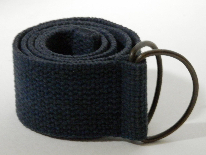 canvas 2 wide belt solid navy blue color webbing gun