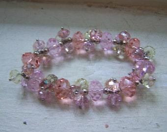Sparkling Faceted Glass Bead Bracelet