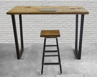Standing Height Urban Harvest Wood Desk and U shape legs in choice of sizes or finishes