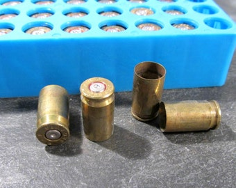 Bullet Casings BRASS Fifty (50) .380 Brass Bullet Casings Art Jewelry Supplies Ammo BULLETS Empty Brass Rounds Empty Cases Reloads (L3)