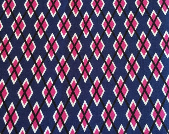 """Dog Collar """"Argyle in Paission"""" CLEARANCE"""