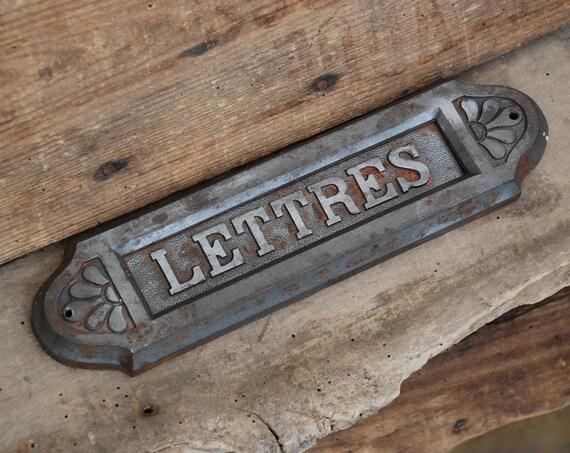 ancienne plaque ouverture boite lettres pour porte. Black Bedroom Furniture Sets. Home Design Ideas