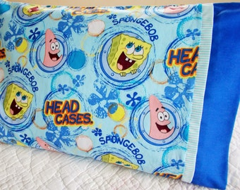 Clearance/Sponge Bob Childrens or Travel  Pillow Case