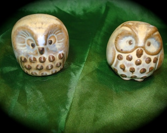 Miniature Ceramic Owls.