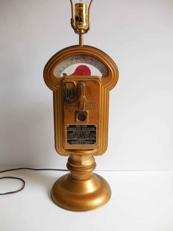 Vintage Parking Meter Lamp Repurposed Light Industrial City