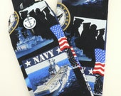 Stethoscope Cover-U S Navy-Nurse-Doctor-Therapist-Military Nurse-Medical Accessory-Nurse Gift-Naval Theme Fabric-Anchor Button-Ships-USA