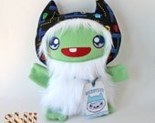 Gamer Yeti Monster Plush Handmade Doll