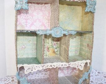 Altered Shadow Box Shelf Handmade by My Cozy Cottage Designs Memory Altar Display
