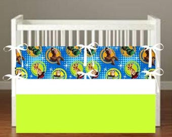 Toy Story Crib Bedding - Nursery Decor 3 Piece Set bumper, skirt, sheet, - Choose Your fabrics