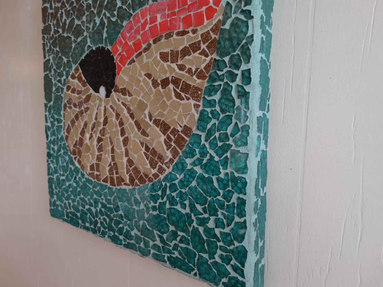 Mosaic Nautilus Shell Home Decor Beach Decor Wall By