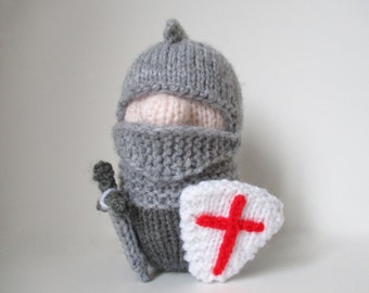 Sir Prance-a-lot the Knight toy knitting patterns