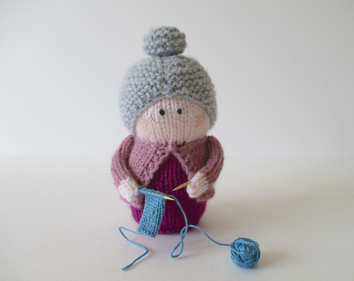 Grandma S Knitting Patterns : Granny toy doll knitting patterns from fluffandfuzz on