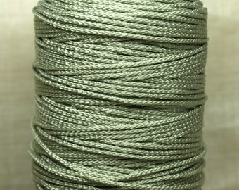 Bulk Cording! 10 Feet of 1mm Pale Olive-y Green Cording. CRD4001