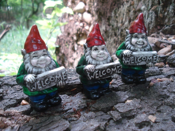 Small Garden Gnomes Miniatures Gnome Fairy By