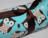 Flannel Play Yard Sheet /  Playard -- Owl, SALE