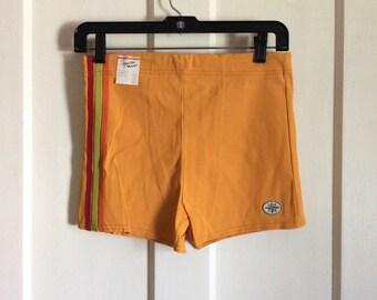 Deadstock Vintage 1950's Surfer Swimsuit Shorts NWT NOS size Medium 34-36 swim trunks