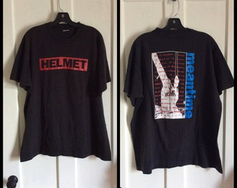 Vintage Helmet 1992 Meantime Tour Rock Band T-shirt size XL