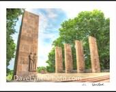 The War Memorial -  Art Print - Virginia Tech - Blacksburg VA - Southwest VA - Home Wall Decor by Richmond VA Photographer Dave Lynch