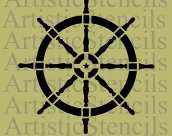 STENCIL Ship's Wheel 12x12