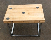 old bowling alley and alloy steel coffee/side table