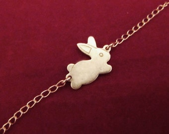 Down the Rabbit Hole - Sterling Silver Bunny Bracelet or Necklace