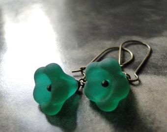 Jewelry, Bohemian Style Earrings, Dangle Glass Flower Earrings, Accessories, Czech Glass Jewelry, Gift Box, Gift for Her
