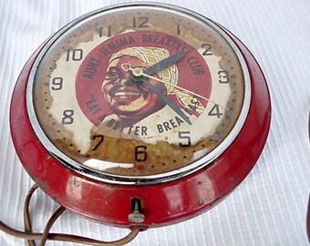Aunt Jemima Electrical Wall Clock Home and Garden Decor Clocks Wall Clocks Black Memorabilia Black Americana Collectibles