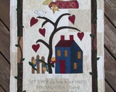 Love in Our Hearts Quilted Wall Hanging