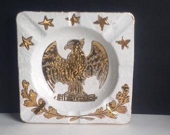 Federal Eagle Ashtry / Italian Pottery
