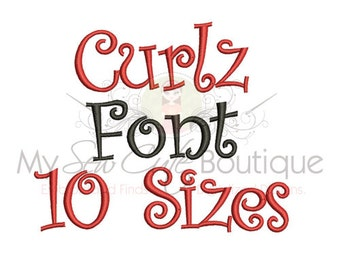 Curlz Monogram Font - 10 Sizes - BX Format Included