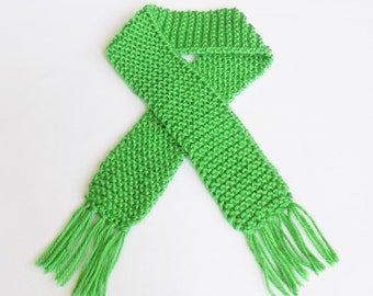 Green Knit Baby Scarf Photo Prop Scarves Boy Girl Knitted May Emerald Babies Infant Newborn Child St Saint Patricks Day Leprechaun Portrait