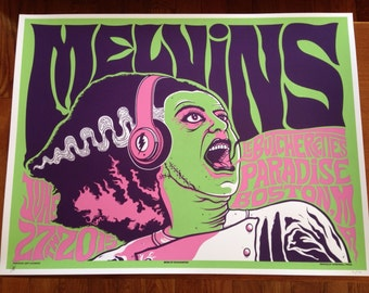 Melvins / Le Butcherettes hand printed silkscreen concert poster.