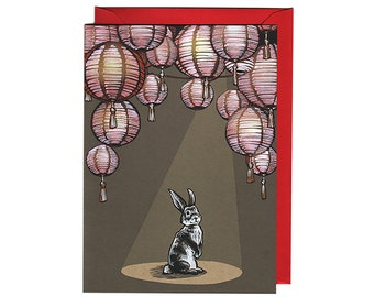 Set of 8 Chinese New Year Cards Year of the Rabbit