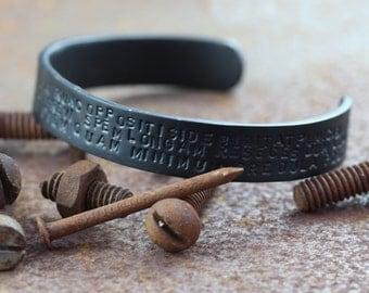 Bracelet Men Black Matte Finish Personalized Stamped Jewellery