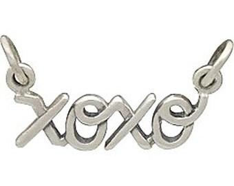 Sterling Silver XOXO Hugs and Kisses Pendant