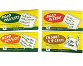 Vintage Flash Cards, Kenworthy Educational, Word Prefixes, Word  Suffixes, Word Blends, Syllable Flip Cards, Home School Supplies, Learning