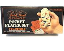 Vintage Trivial Pursuit Pocket Player Set, TP's People, Trivia Game, Trivial Travel Game, Trivia Car Game, Vintage Boxed Game, Team Game