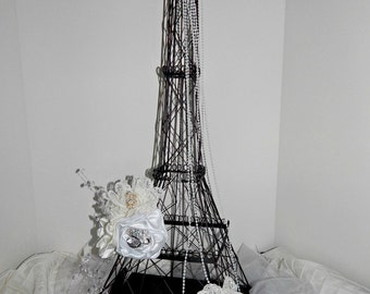 Eiffel Tower lockable card holder box, Parisian wedding reception,  themed Bridal shower and Baby  Shower.