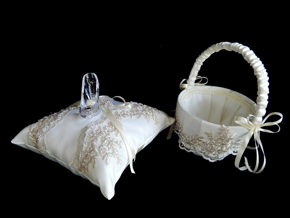 fairy tale cinderella wedding ring bearer pillow glass slipper ring bearer pillow - Cinderella Wedding Ring
