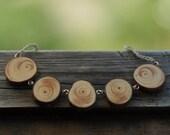 beautiful & original wood necklace  •  pine wood necklace  •  wooden pendant