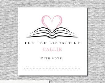 Bookplate for Children's Book - Baby Shower Wishing Well - Book Shower -  Build-A-Library  #00011-STKR2C