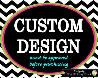 CUSTOM INVITATION DESIGN by One Whimsy Chick - Must Be Approved