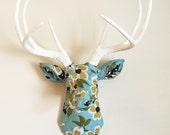 """Joel Dewberry 'Bloom in Pond"""" Floral Deer Head Wall Mount Faux Taxidermy"""