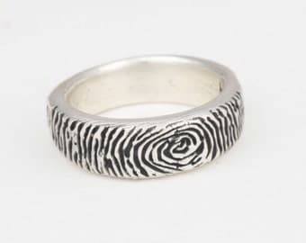 Custom Sterling Silver Mens Wedding Ring- Comfit Fit- Bridal Jewelry
