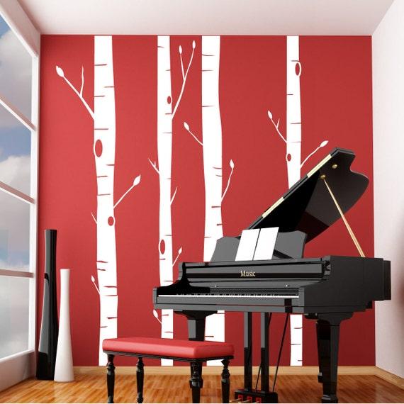 Aspen trees vinyl wall decal for Aspen wall mural
