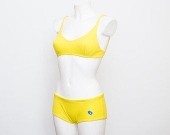 Bikini 60s Deadstock Vintage yellow low rise
